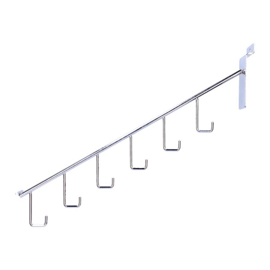 Slatwall zolenhaak 6 traps