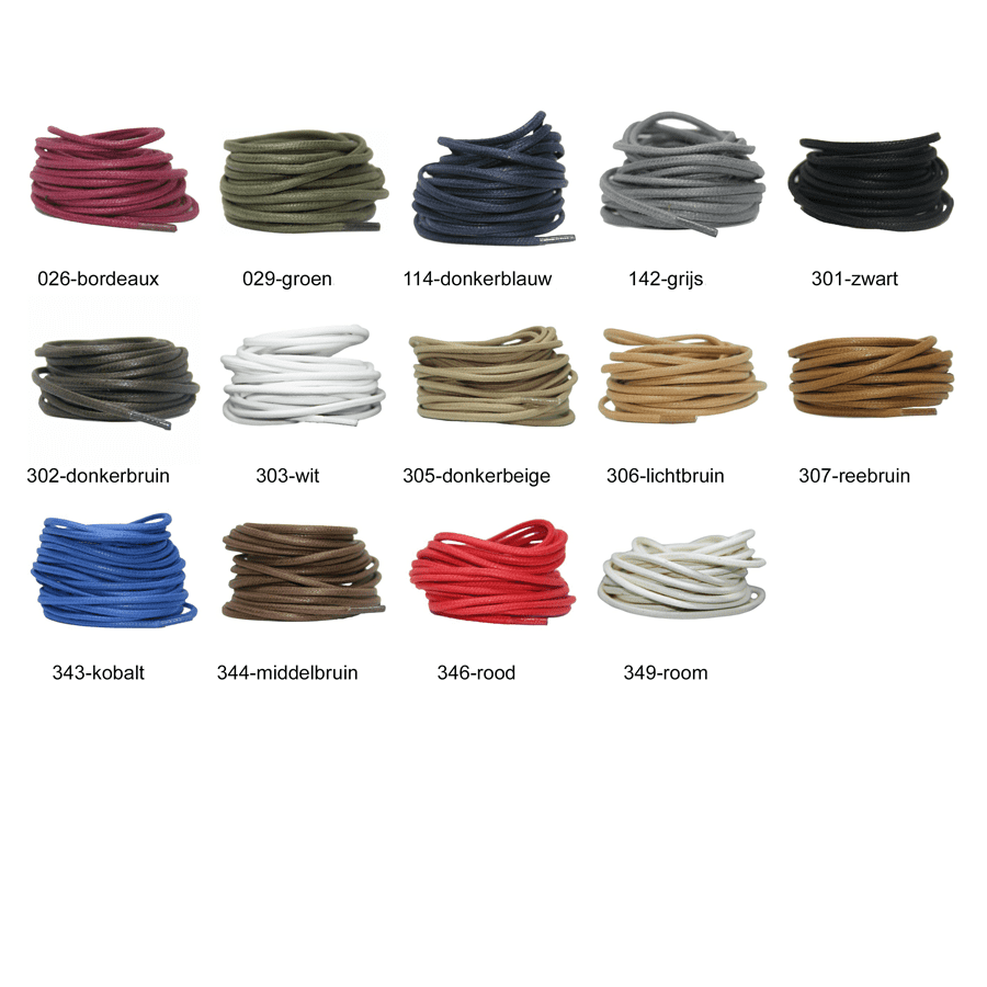 Yourlaces Trendveter rond wax 3 mm