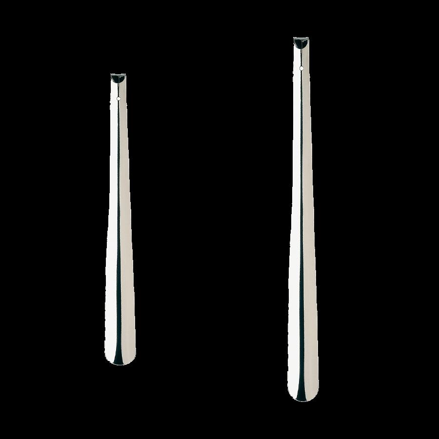 Lange metalen schoenlepel
