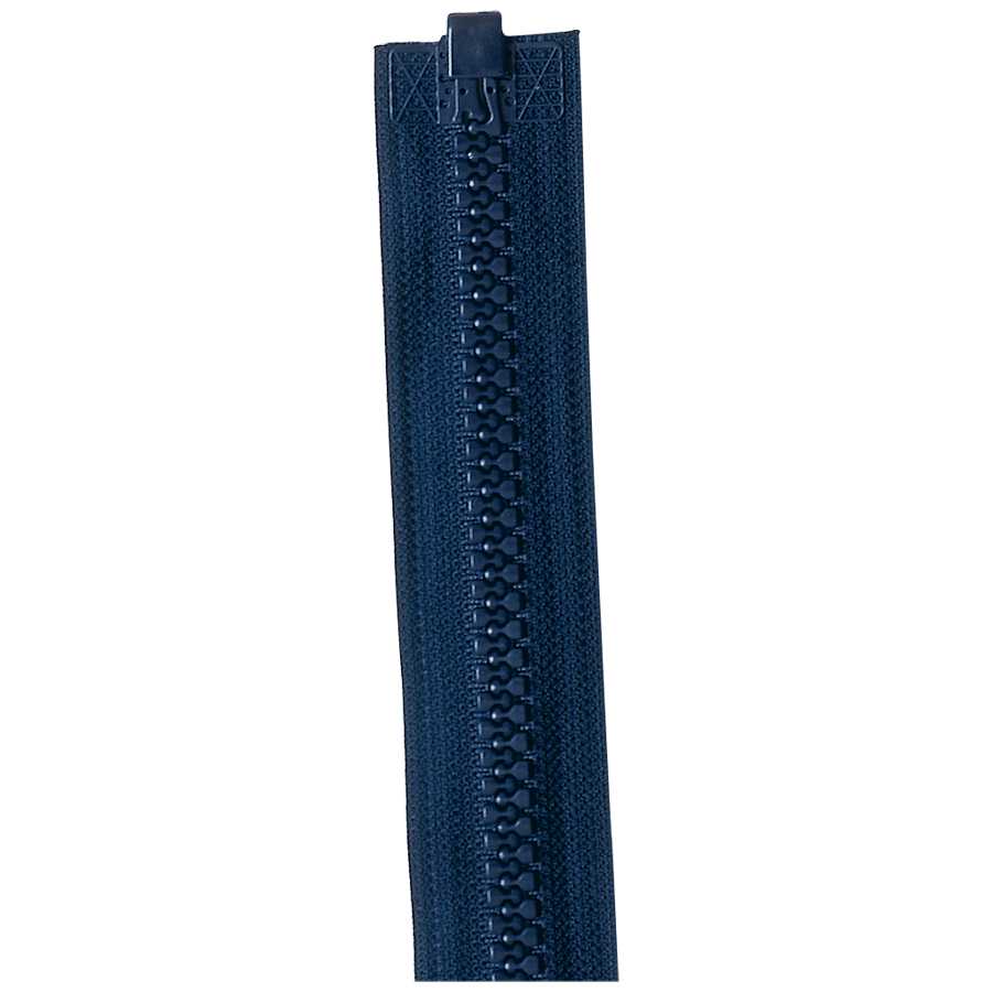 Rits nylon deelbaar grof bloktand