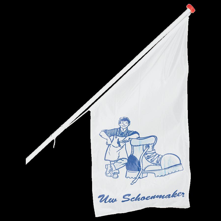 Vlag blauw logo -UW SCHOENMAKER-