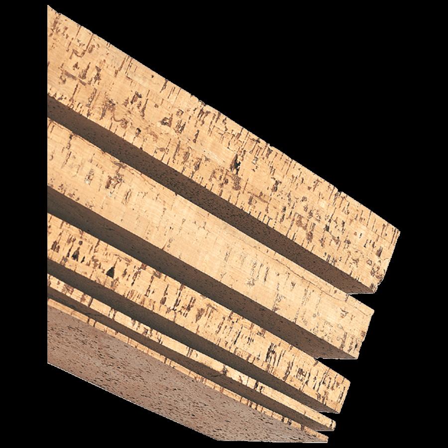 Kurkplaatje 120x300 mm. 5,0 mm