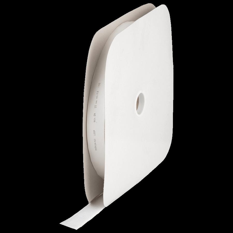 **Klittenband zelfklevend 20 mm rol à 25 meter Wit Haak