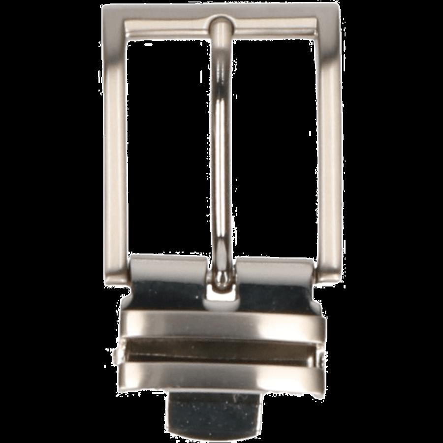 Broekriemgesp 35 mm met kliksluiting art.1067 Mat nikkel