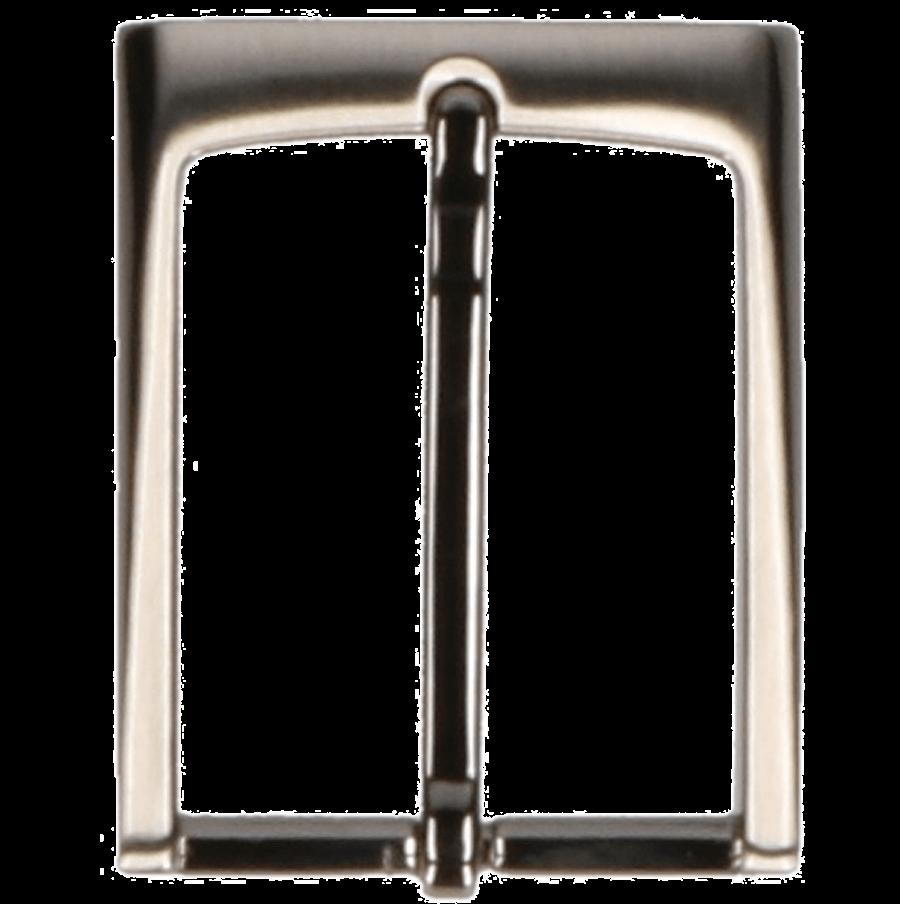 Broekriemgesp enkel 35 mm art. 8518 Oud nikkel