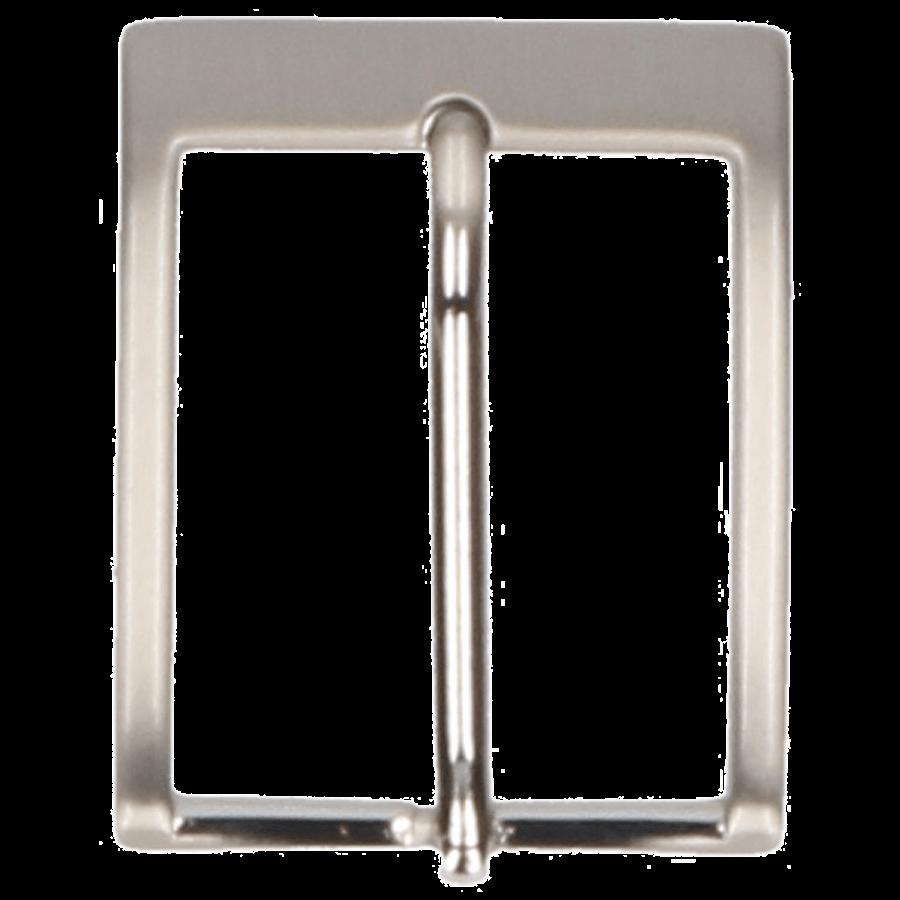 Broekriemgesp enkel 35 mm art. 8385 Mat nikkel