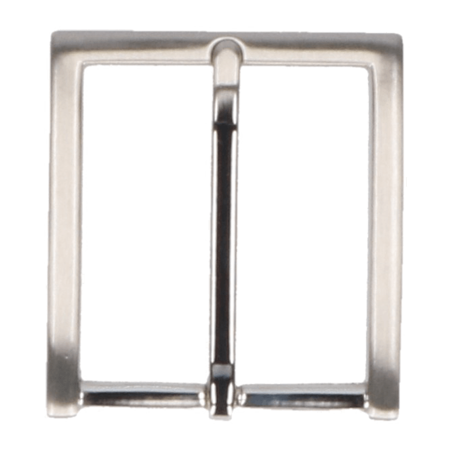 Broekriemgesp enkel 40 mm art. 5926 Mat nikkel
