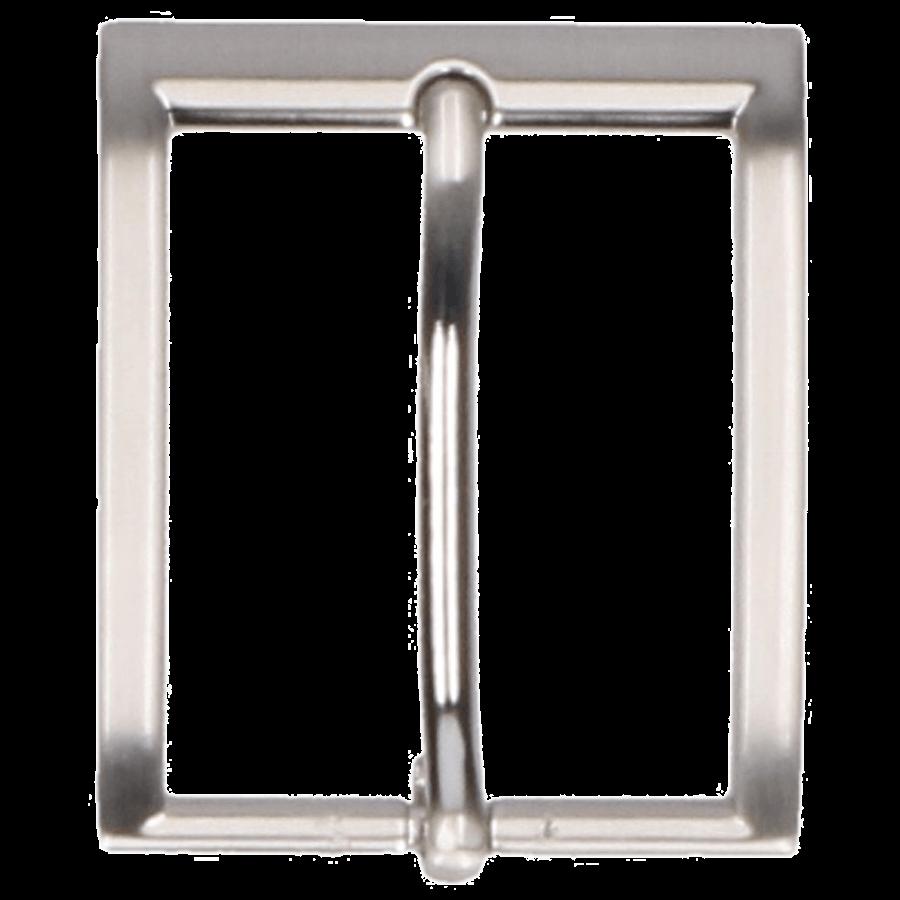 Broekriemgesp enkel 35 mm art. 8386 Mat nikkel