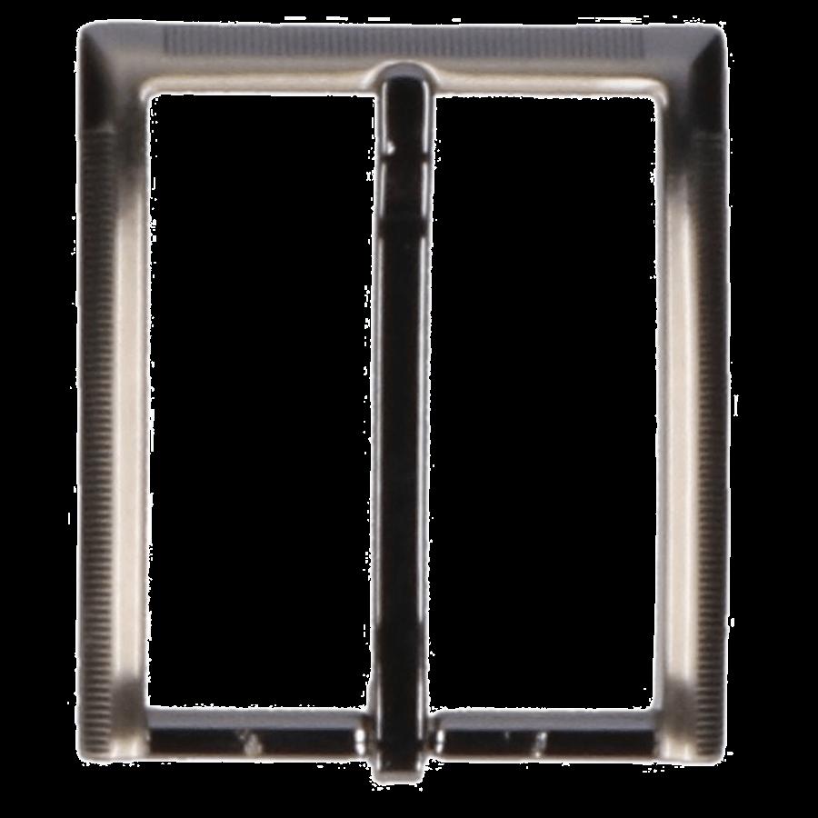 Broekriemgesp enkel 35 mm art. 7915 Oud nikkel