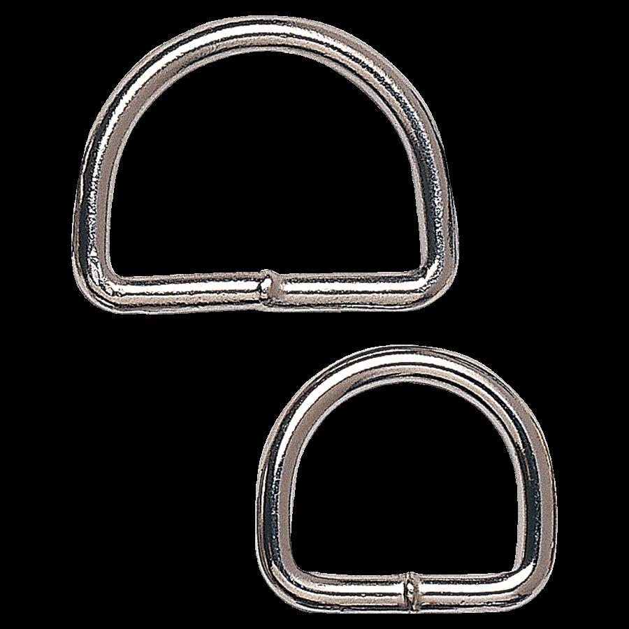 Blanke halfronde ring