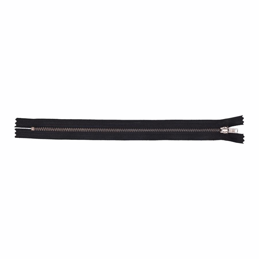 Rits nikkel antiek ondeelbaar Zwart 25 cm