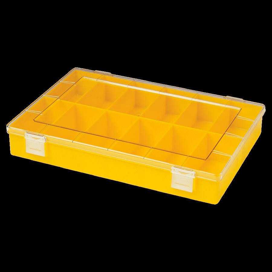Vakkendoos 12 vaks (geel)